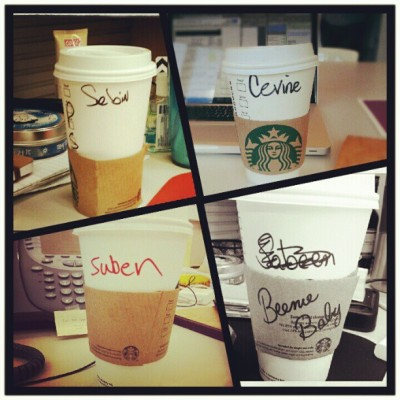 #starbucksspelling of 'Sabeen.'   (Taken with Instagram)
