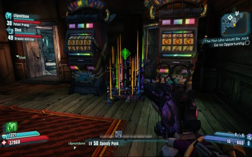 cmkz:  So, I was playing Borderlands 2 with some friends, and then the game broke.Not shown: Me tipping Moxxi and suddenly being level 50, from 27.   Someones using mod. I've seen this is action before..