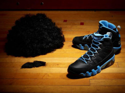 "Air Jordan IX ""Slim Jenkins"" Who is Slim Jenkins? His sneaker has been the most mysterious from the gigantic Air Jordan IX 'Kilroy Pack', with the further out release date preventing too many previews from popping up so far. Luckily our man Johnny Kilroy has let go an image, this one suggesting that Michael Jordan donned a fake mustache and quite the afro to get away with the disguise. Click through with us to check one of the better views provided so far of the Air Jordan IX 'Slim Jenkins' and let us know if you'll be picking up this November 24th release. Air Jordan IX 'Slim Jenkins' 11/24/12 (via Air Jordan IX ""Slim Jenkins"" 