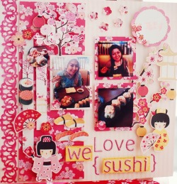 "We love sushi  ""FA Scrap Challenge"" in Made With Love Indonesia"