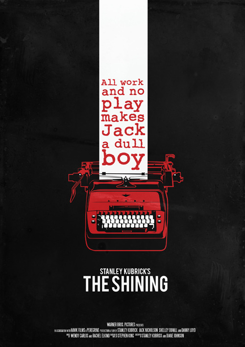 minimalmovieposters:  The Shining by Robert Olah