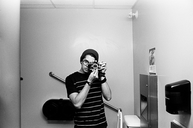 August 2011. Bathroom in A&W in Canada. on Flickr.