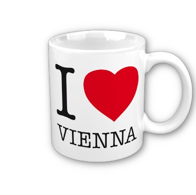 I LOVE VIENNA Mug. A great way to start the day. ORDER HERE