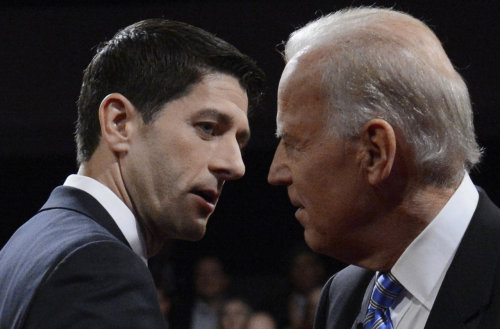 Biden & Ryan cross paths after the debate.  Wow.