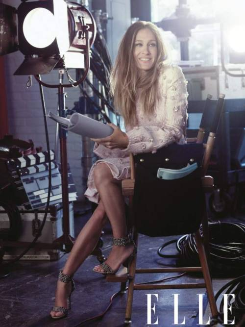 Sarah Jessica Parker poses for Elle US November 2012 issue.