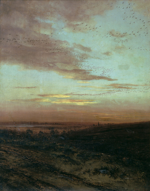 russianarthistory: Alexei Savrasov, Evening. Migration of birds, 1874
