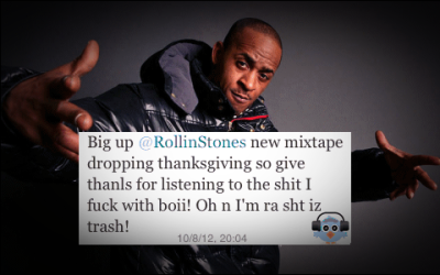 "S/o to Buck for announcing the release date of ""The Steppin' Stone: All or Nuthin"" via twitter . He also briefly heckled some dude that gave him a wack ass demo Lol - #TSSNov22nd #dohhsquad #dohhnation"