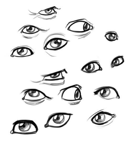 Eyes are sometimes the hardest part! ze-tarts:  I drew some eyeballs.  Getting tired of how I draw them on characters, need to practice doing them from photo reference to get an idea of what I need to do to fix my problems.