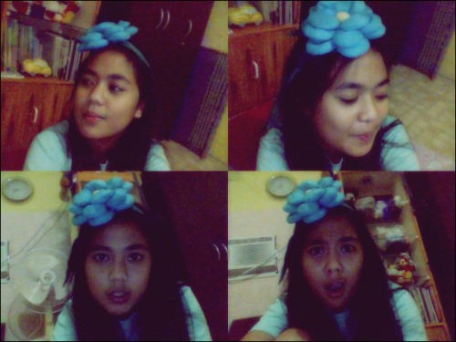 That is one awesome headband and that belongs to our curtain! Yey! o_O And yes, that's a product of having nothing to do all day. The spirit of unemployment is finally upon me. :)