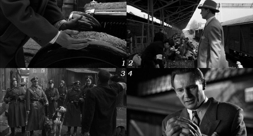 "1 movie - 4 frames.    ""Schindler's List"", what's the right sequence?"