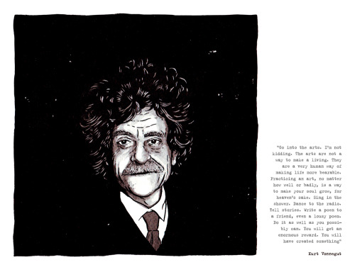 matpringle:  'Kurt Vonnegut' by Mat Pringle. Click to read!