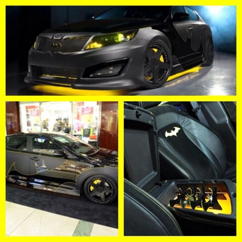I suddenly feel the urge to buy a new car 😍 #batman #NYCC #kia #optima (Taken with Instagram)