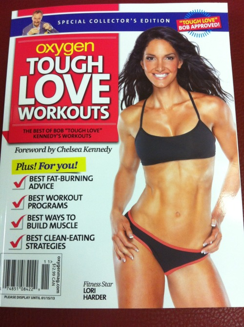 "Has anyone picked up this Tough Love Workouts bookazine? I need to get my hands on it.  Don't you just love Lori Harder?! oxygenmagazine:  Tough Love Workouts! This new bookazine is a collection of our late publisher Bob ""Tough Love"" Kennedy's best advice, inspiration and workouts. On sale October 16th! Preview it here."
