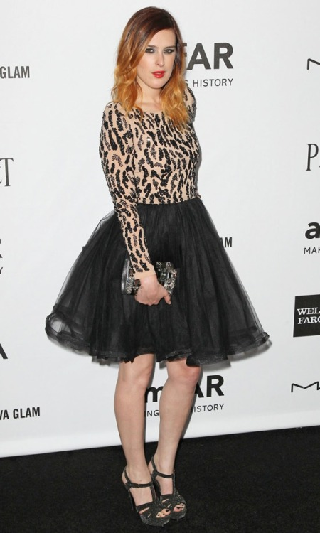 Rumer Willis At The AmFar Gala, 2012