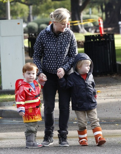 Code Red: Amy Poehler's ginger child in a fireman jacket.