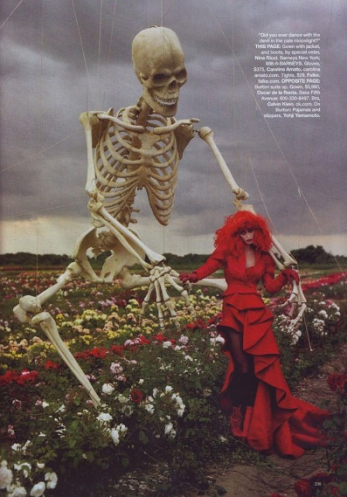 Tim Burton's Tricks & Treats by Tim Walker for Harper's Bazaar US October 2009