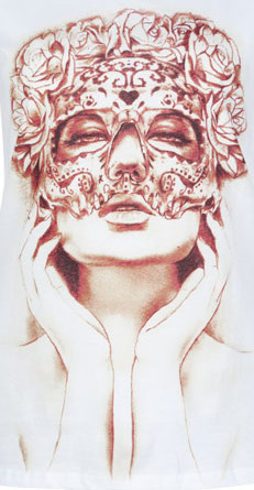 Saw this on a shirt! Kinda obsessed with masks… so took a picture