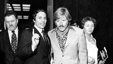 1976 Robert Redford with Bob Woodward.