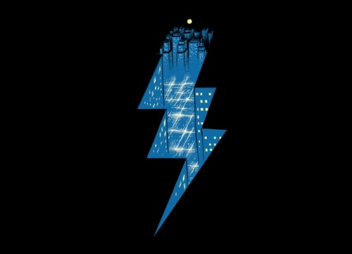 threadless:  Take a trip to Thunder City with today's new design by R. Gegen Noviara!