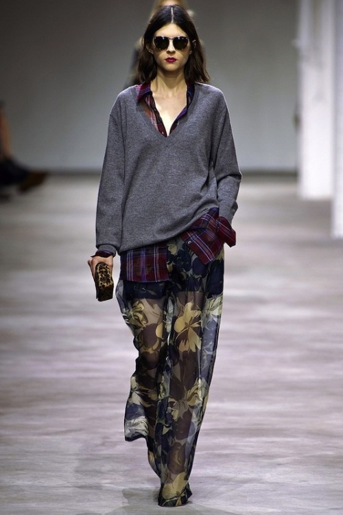 Dries does grunge…Dries van Noten, Spring 2013