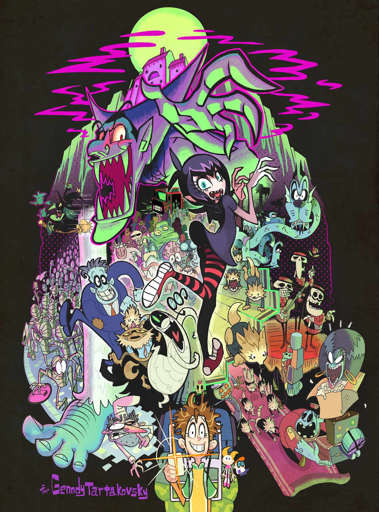"Aces!!  sonyanimation:  Take a look at this spooky fan art! jubycomics:  ""Monster Hotel"" by ガしガし HOTEL TRANSYLVANIA"