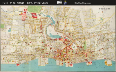 Map: Bien's City of Yonkers, New York (1893) originally posted to the BIG Map Blog.