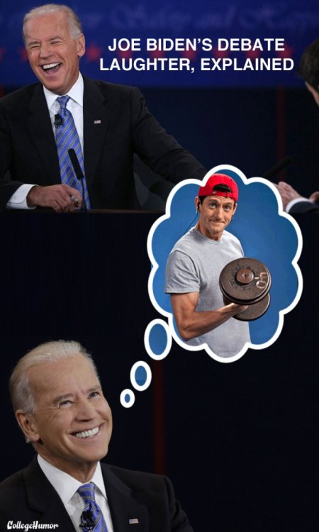 Joe Biden's Debate Laughter, Explained P90-wha? Lord of mercy, ya gotta be kiddin' me.