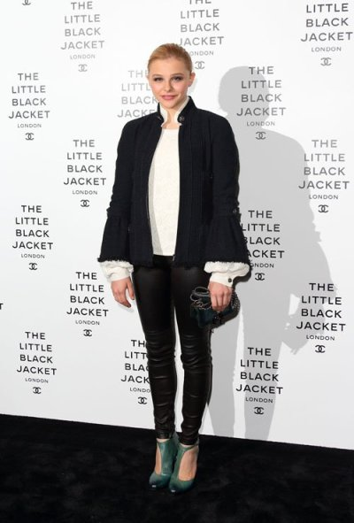 Chloe Moretz at the Chanel: The Little Black Jacket event in London, England on Friday night.