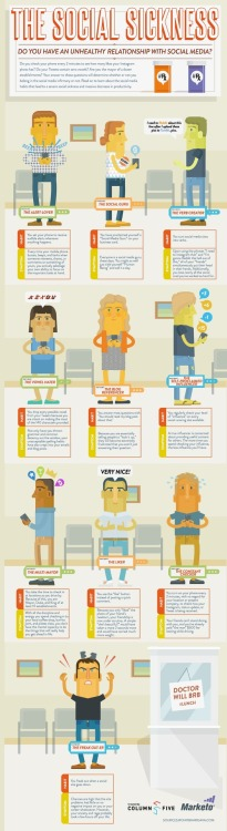 The 10 types of social media addicts, illustrated in this infographic