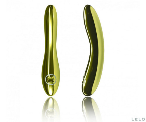 At $15,000, this is the world's most expensive vibrator LELO Inez Gold Vibrator, part of the LELO Luxe Collection, is a high quality sex toy for women like no other. The best LELO vibrator is crafted in 24K gold plate and belongs in your jewelry box or even your safe.  Considered to be one of the world's best vibrators, LELO Inez Gold Vibrator delivers an exciting experience for users who want to experience the sexy sensation of hot or cold.  Five pre-programmed vibration modes and an almont silent vibration present many of pleasureable experiences. LELO Inez's petite frame guarantees discreet yet delightful pleasure. There's no need for batteries because Inez is rechargeable and holds a 2-hour charge with up to 4 hours of enjoyment. This luxury vibrator comes in a luxurious wooden gift box, with a charger, manual, satin pouch for elegant and discreet storage and a 1-year LELO warranty. Product link