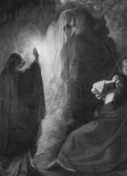 D. Martynov, The Witch of Endor summons the Ghost of Samuel (detail), 1857