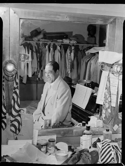 "nprradiopictures:  Duke Ellington, amid ""his 20 suits, 15 shirts, suede shoes and his ever present piano"" in his dressing room at the Paramount Theater in New York in September 1946. Photo Credit: William Gottlieb/Library of Congress I was scrolling through my Tumblr feed a year or so ago, when I saw a photo of Joyce Bryant. The caption said she was once dubbed the ""black Marilyn Monroe"" and was mentioned many times in Walter Winchell's gossip column. But, I had never heard of or seen Bryant before. It's reactions like mine that led 42-year-old writer Nichelle Gainer to start a book project showcasing a collection of rarely seen historical photos of actors, educators, writers, students, musicians and more — all African-American. ""I write fiction for the most part, and when I am in libraries doing research … I've come across a lot of different interesting articles and photos that you never see anywhere else,"" says Gainer, who has written for Woman's Day, GQ, InStyle, Essence and Honey magazines. ""They're just locked in these ivory towers, whether it's an academic institution or a library."" Gainer, who is still working on her book, decided to share her photo finds and now curates the Vintage Black Glamour Tumblr blog, Facebook page and Pinterest account. Much of what she posts are photos you likely haven't seen before of stars you may know. 'Vintage Black Glamour' Exposes Little-Known Cultural History"