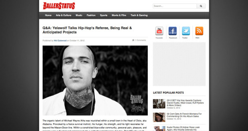 New Yelawolf interview with BallerStatus.com