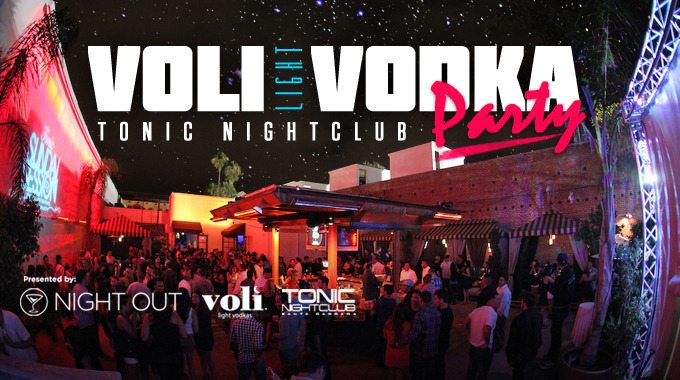 Night Out's Voli Vodka Party is coming soon! Get ready to party it up with Night Out at Tonic! For only $10 you get 4 drink tickets and VIP access to the club! So come on out and party it up under the stars in beautiful downtown Santa Barbara!