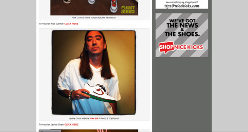 Jackie Chain on NiceKicks.com Celebrity Sneaker Stalker