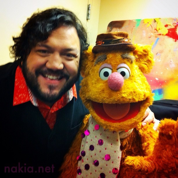 Having a laugh with Fozzy Bear backstage before CeeLo's Magic Moment in Vegas. Read show review here: http://bit.ly/OYyBMQ (Taken with Instagram)