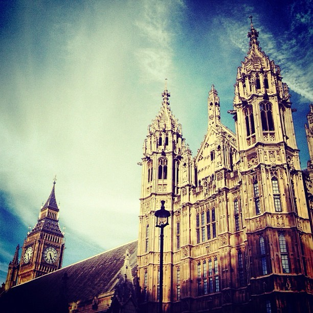 #latergram from #bigben and #westminsterabbey in #london.  (Taken with Instagram)