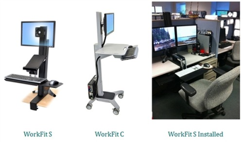 breakingnews:  Standing desks make 'huge difference' for workers, researchers say Office workers who spent an hour or so a day at stand-up workstations felt more energized, productive and even happier, researchers report. If they keep it up, they may help reduce the damage done by sitting at a desk all day. Read more from NBC News. Photo: Sit-stand devices used in the Take-a-Stand Project in Minneapolis, Minnesota, 2011. (CDC.gov, Preventing Chronic Disease)  I really need one of these.