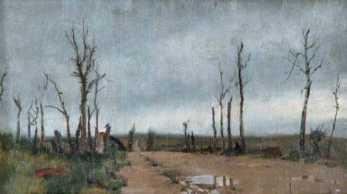 Near 'Hell Fire Corner', Menin Road, Ypres - by Haydn Reynolds Mackey