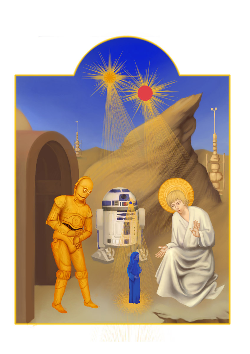 cheychao:  Star Wars in Medieval manuscript. Limited Edition Art Print  available at http://bza.co/xearslll