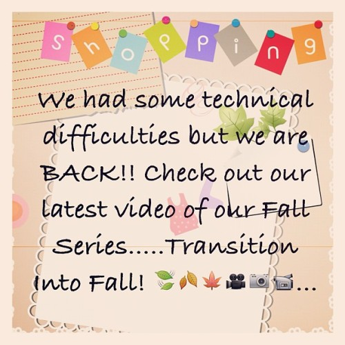 We're back!!! Fall Series! Transition into Fall!! Watch it on YouTube : The Style Dolls …..hope you enjoy! @sicarrablack @heels_stay_high @janaimac #thestyledolls #fashion #style #stylist #vintage #diy #howto #instadaily #instaphoto #love #clothes #denim #watch #ootd #video  (Taken with Instagram)