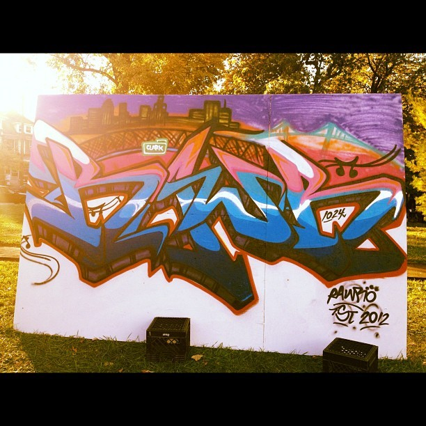 Dope Graffiti @ Clark Park for Latino Heritage Month (Taken with Instagram at Clark Park)