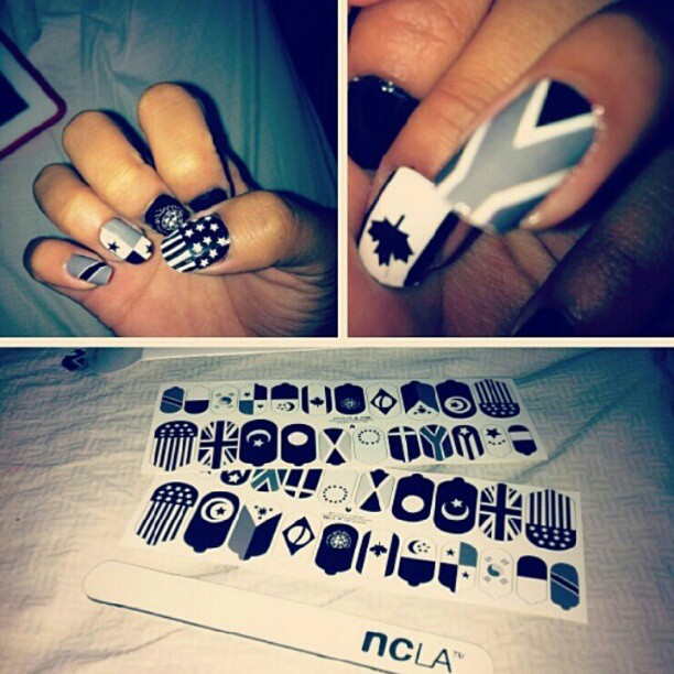 "Melody Ehsani x NCLA nail wraps "" i get around"" www.melodyehsani.com #melodyehsani #nailart #naildesign #nailwraps  pic ganked from @ireechow (Taken with Instagram)"