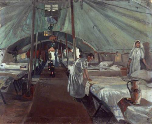The Officers' Ward at the 41st Casualty Clearing Station - John Hodgson Lobley