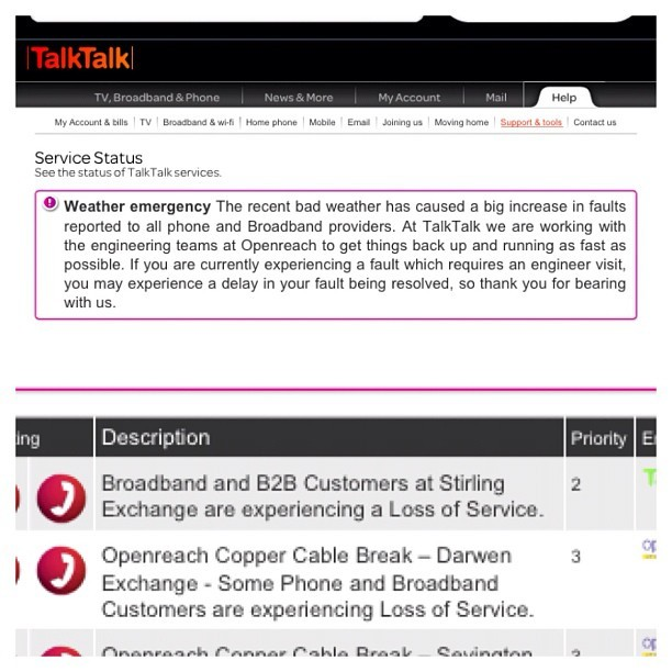 Talk Talk would lose bloody service in my area the DAY my website is meant to launch 😔 (Taken with Instagram)