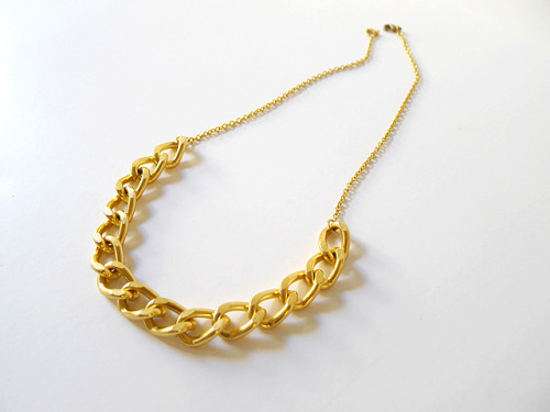 thanksimadeit:  5 Minute Gold Chain Necklace from Thanks, I Made It