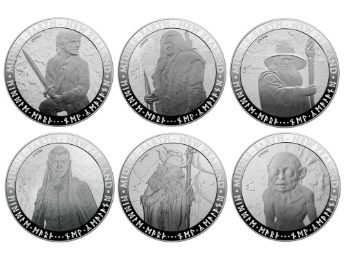 "hcclibrarylove:  More commemorative coins from New Zealand's THE HOBBIT fever. ""To put Gandalf on these splendiferous coins is a wizard idea,"" said Sir Ian McKellen. See all the coins at The Huffington Post."