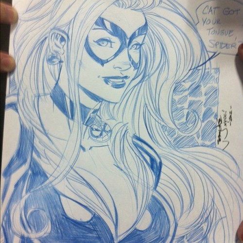 Black Cat commission by Jeremy Dale #nycc (Taken with Instagram)