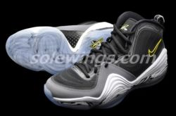 "Nike Air Penny V ""Tour Yellow"" The Nike Air Penny V range just got a bit more interesting, sliding in an upcoming colorway with no clear connection to any of the teams that Penny Hardaway played for during his professional career. Not that the pair needs any sort of backstory, the tour yellow meets cool grey mixture is a head turner regardless of personal details involved, not to mention the slick graphics etched in around the upper and the midsole.  Nike Air Penny V Black/Black/Cool Grey-Tour Yellow 12/26/2012 $165 (via Nike Air Penny V ""Tour Yellow"" 