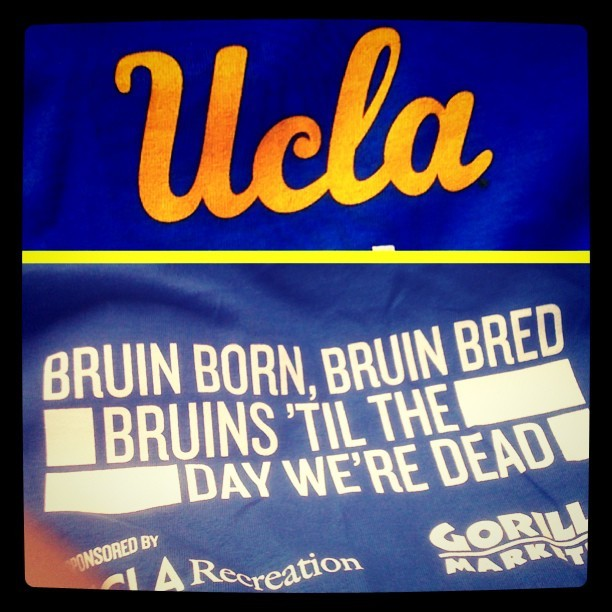 """Bruin born, Bruin bred, Bruins 'til the day we're dead."" #UCLA #homecoming (Taken with Instagram)"